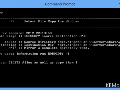 Robocopy Syntax Commands